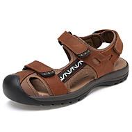 Men's Shoes Casual Calf Hair Sandals Brown/Khaki/Tan