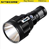 LED Lommelygter LED 5 Modus 1800 LumensVandtæt / Oppladbar / Nedslags Resistent / Glidesikkert Greb / Taktisk / selvforsvar / Klemme /