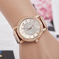 yoonheel Damen Modeuhr Simultan? Diamant Uhr Quartz Imitation Diamant schweizerisch Designer Metall Band Rotgold Rotgold