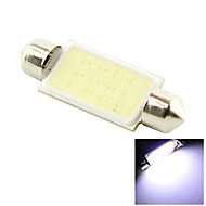 41mm 3W COB LED 200lm Cold White Light Dome Festoon Reading Bulb Lamp for Car (DC 12V)