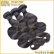 "3Pcs/Lot 10""-28"" Brazilian Virgin Hair Natural Black Body Wave Unprocessed Human Brazilian Hair Extension Hair Weaving"