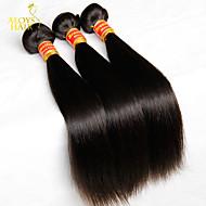 """3 pc lot 8 """"-30"""" vergini brasiliani le trame dei capelli dritti naturali nero 1b # economici fasci capelli umani remy tessuto groviglio"""