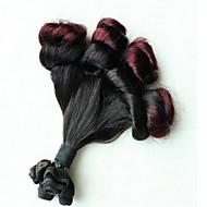 3pcs / lot capelli Funmi tesse, 3 bulndles capelli umani brasiliani ricci, colore nero, nessun spargimento extenions capelli Funmi