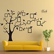 adesivi da parete decalcomanie, stile foto nero adesivi murali albero pvc