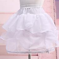 תחתונית  סליפ שמלת נשף אורך- קצר 3 ניילון לבן