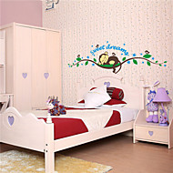 Wall Stickers Wall Decals , Cartoon Monkey Forest PVC Wall Stickers