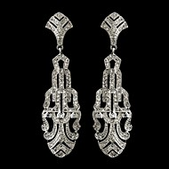 Vintage 1930's Wedding Women's Silver Crystal Earring For Birde Wedding