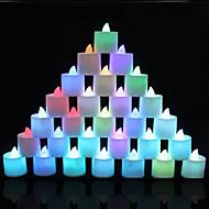 1 개 색상 변화하는 여러 가지 빛깔의 설정 tealight 촛불 결혼식 생일 파티 장식 배터리를 빛 LED