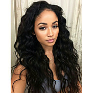 2015 Fashion 10-30inch 100% Peruvian Virgin Hair Loose Wave Natural Color Lace Front Wigs