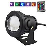 10 W RGB fekete lencse víz alatti világítás szökőkút fény (12V-24V)
