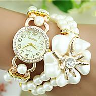European Style Fashion Pearl Rhinestone Flower Magnet Bracelet Watch Trend Watch