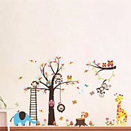 Animals Cartoon Wall Stickers Plane Wall Stickers Decorative Wall Stickers,Vinyl Material Removable Home Decoration Wall Decal