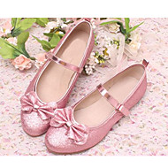 Girl's Flats Spring / Summer Round Toe Satin Dress / Casual Flat Heel Sequin Blue / Pink / Silver / Gold