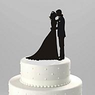 kake toppers klassisk par akryl søt kjærlighet kake topper