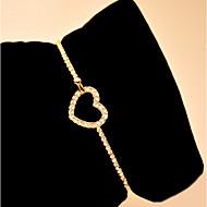 Lucky Star Women's Elegant Cut Out Heart Type Bracelet