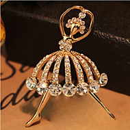 Lucky Star Women's Fashion Rhinestone  Brooch