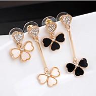 Lucky Star Women's Fashion Rhinestone Flower Earrings More Color