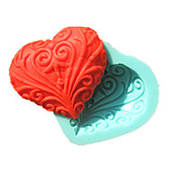 Lace Heart-Shaped Soap Mold Fondant Cake Molds Chocolate Mould For The Kitchen Baking Sugar Cake Decoration Tool