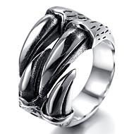 Mens Stainless Steel Ring, Vintage, Biker, Silver, Claw KR1857