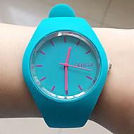 Women's Dress Watch Fashion Watch Wrist watch Casual Watch Quartz Silicone Band Black White Blue Red Brown Strap Watch