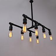 Mini Pendant Water Pipe Lamp,8Light,Painting Processing