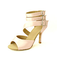 Aanpasbaar - Voor dames - Dance Schoenen ( Zwart/Blauw/Geel/Roze/Paars/Rood/Wit/Fuchsia ) - met Aangepaste  hak - en Latijn/Salsa