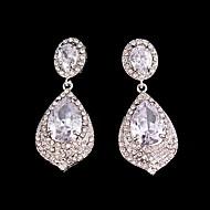 Luxurious Big Rhinestones Long Vintage Dangle Brides Bridesmaids Wedding Party Princess Earring