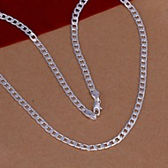 4mm Sterling Silver Necklace Chain Necklaces Wedding/Party/Daily/Casual 1pc