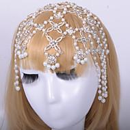 Alloy Forehead Jewelry With Imitation Pearl/Rhinestone Wedding/Party Headpiece
