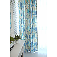 Country Curtains® One Panel Blue Floral Print Curtain