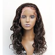 cordón de las mujeres de 10 pulgadas peluca del frente del color del ~ 20inch pelo de la India (# 1 # 1b # 2 # 4) pelo de la onda del