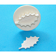 FOUR-C Large Holly Leaf Gum Paste/Fondant Plunger Cutters,Classic Cake Decorating Supplies 1pcs