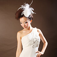Women Feather/Net Flowers With Wedding/Party Headpiece