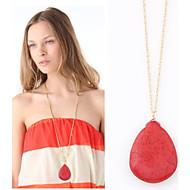 Women's European Style Fashion Metal Droplets Elegant Long Necklace