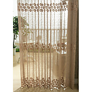 country curtains® jednom panelu zlatý květinový jacquard čiré