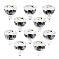 10 pcs GU5.3(MR16) 4W 4 High Power LED 360-400 LM Warm White / Cool White / Natural White MR16 Dimmable LED Spotlight DC 12 / AC 12 V