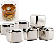 10 pcs/lot Stainless Steel Whiskey Stones Rock Ice Cubes Soapstone Drink Freezer
