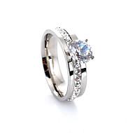 Obrączki Kamień szlachetny Kryształ sztuczna Diament Stop Miłość Modny luksusowa biżuteria Silver Biżuteria Ślub Impreza Codzienny Casual