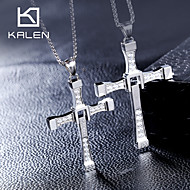 Fast&Furious 7 Dominic Toretto Cross Pendant Stainless Steel Pandent Necklace Lovers' Crystal Necklace