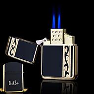 osobní dar tkaničky designový butikový kov černý dvojitý plamen butan zapalovač