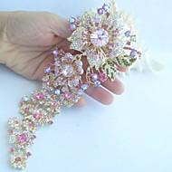 ženy příslušenství gold-tone růžový krystal drahokamu orchidej květina brož art deco crystal brož kytice ženy šperky
