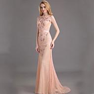 Dress Trumpet/Mermaid Bateau Floor-length Chiffon Dress