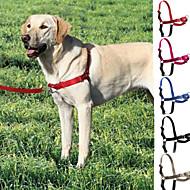 כלבים רתמות / רצועות / קולר מחליק חוזרמתכווננת Red / Black / כחול / אפור / ורד ניילון / פלסטיק / פלדת אל חלד