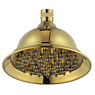 "6"" PVD-TI Gold Finish Brass Telephone Classic Style Water Saving Rain Shower Head for Bath"