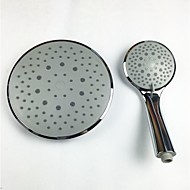 8 Inch Roll Rainfall Shower Head with Hand Shower ABS Chrome Finish Grey Surface