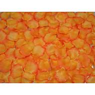 Orange Edge Rose Petals Table Decoration - (100 Petals Per Pack)