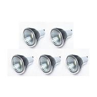 5W GU10 Lâmpadas de Foco de LED MR16 1 COB 450 lm Branco Quente / Branco Frio / Branco Natural Regulável AC 220-240 / AC 110-130 V 5 pçs