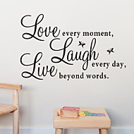 Love Laugh Live Quote Wall Decal Zooyoo1002 Decorative Adesivo De Parede Removable Wall Sticker