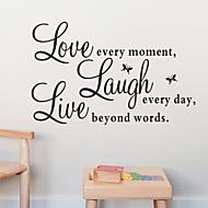 o amor do riso citação ao vivo Decalque zooyoo1002 decorativo Adesivo de Parede Adesivo de parede amovível