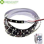 SENCART 2 M 120 3528 SMD לבן ניתן לחיתוך/שלט רחוק/ניתן לדימדום/ניתן להרכבה/מתאים לרכבים/נדבק לבד 10 W סרטי תאורת LED גמישים DC12 V